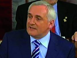 An Taoiseach, Bertie Ahern, i Washington n�os luaithe inniu