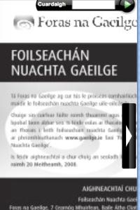 An fógra \'speisiúil\' i Lá Nua inniu