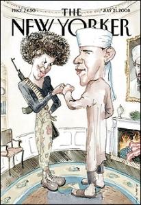 Priomhleathnach conspóideach an New Yorker