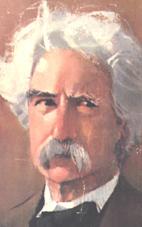 Samuel Longhorn Clemens nó Mark Twain mar ab fhearr aithne air.
