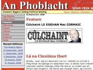 An 'pravda' faoi chinneadh an Fhorais i dtaobh Lá Nua, dar le hEoghan Mhic Chormaic