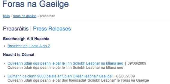 Tabhair faoi ndeara 'ar fud an Oileán' ...